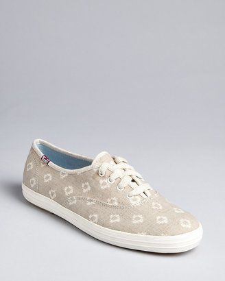 Keds Lace Up Sneakers - Champion Kimono Dot
