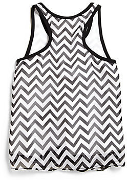 Sally Miller Girl's Chevron Tie Tank Top