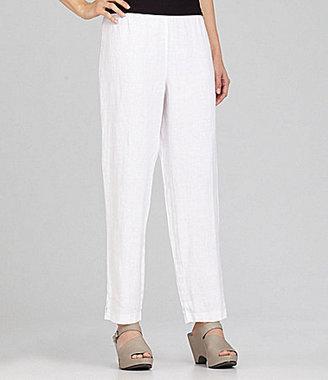 Eileen Fisher Petites Heavy-Linen Straight-Leg Pants
