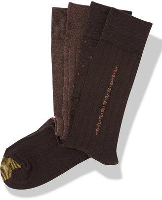Gold Toe Men's Socks, Dress 4 Pack