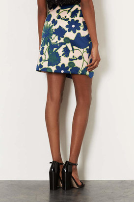 Topshop Embellished X-Ray Flower Skirt