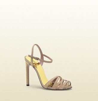 Gucci Fleur Studded Suede Sandal