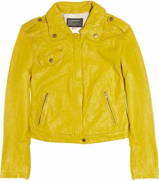 Current/Elliott Leather moto jacket