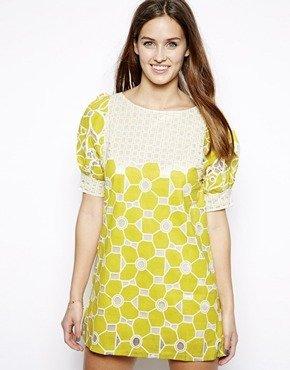 Mina Mini Tunic Dress - Lime