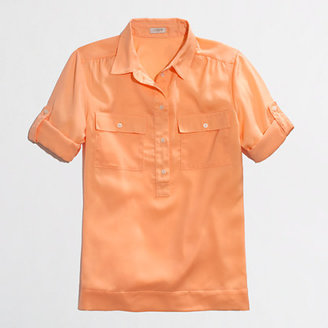 J.Crew Factory Factory draped two-pocket popover