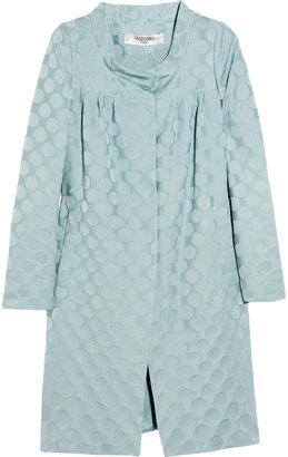 Valentino Roma Polka-dot wool and silk-blend coat