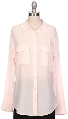 Equipment Signature Two Pocket Solid Blouse