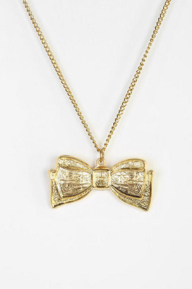 Urban Outfitters Diament Jewelry X Urban Renewal Gold Bow Necklace