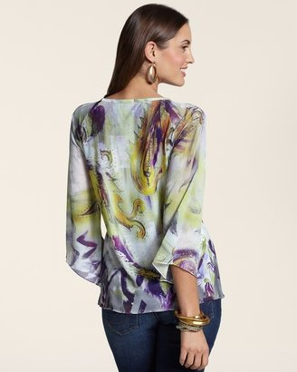 Chico's Violet Paisley Marilyn Top