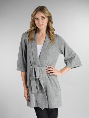 Autumn Cashmere Kimono Sleeve Pocket Wrap Sweater