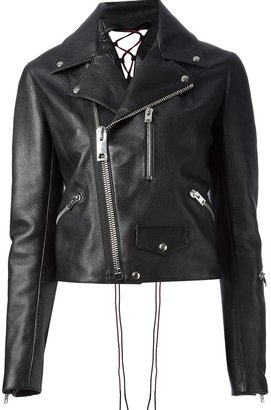 Yang Li 'Perfecto' cropped biker jacket