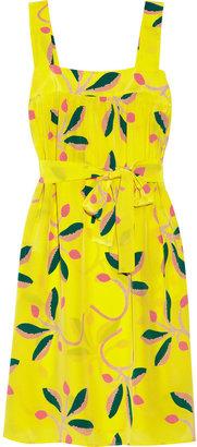 Tucker Floral-print silk dress