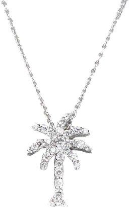 Roberto Coin Tiny Treasures 0.17 TCW Diamond & 18K White Gold Palm Tree Pendant Necklace