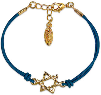 Ettika Gold Star of David Leather Bracelet