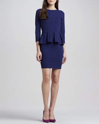 Susana Monaco Universe 3/4-Sleeve Peplum Dress