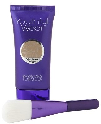 Physicians Formula Youthful Wear Cosmeceutical Youth-Boosting Foundation + Brush Medium Beige