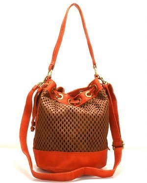 Linea Pelle Perforated Color Block Bucket