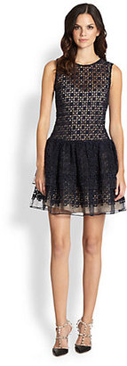 RED Valentino Organza Dropped-Waist Dress