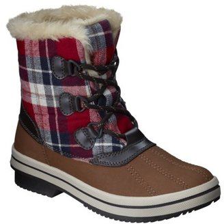 Merona Women's Nara Winter Boot - Brown/Plaid