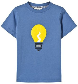Fendi Blue Printed Lightbulb Tee