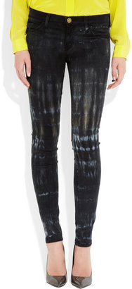 Current/Elliott The Ankle Skinny tie-dye low-rise jeans