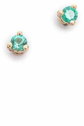 blanca monros gomez 14k Gold Tiny Emerald Stud Earrings $220 thestylecure.com