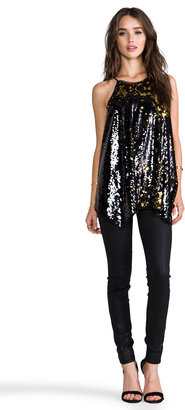 Milly Stretch Sequins Tank