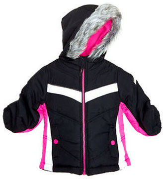 Hawke & Co Girls 2-6x Colorblock Performance Faux Fur Outerwear