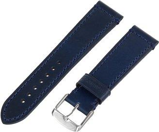 Momentum Men's ZC-22HMP BLUE-MOM M50-DSS or Chronologic F3 22mm 'Hampton' Leather Strap Blue