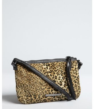 BCBGeneration leopard print and faux leather small 'Abbie' crossbody bag