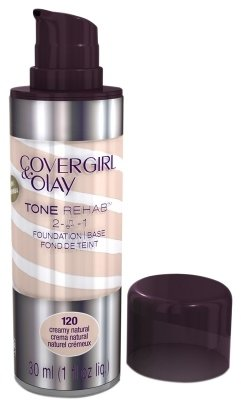Olay CoverGirl & Tone Rehab 2 in 1 Liquid Foundation Creamy Natural 1.0fl oz