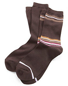 Relativity 2-pk. Bamboo Stripe Socks