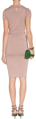 Valentino Powder Silk-Cotton Dress