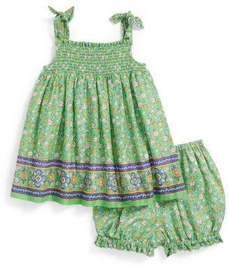 Ralph Lauren Floral Print Dress & Bloomers (Baby Girls)