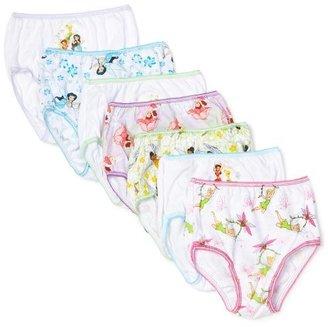 Disney Handcraft Little Girls' Tinkerbell 7-Pack Underwear