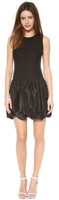 Rebecca Taylor Cloque & Taffeta Pouf Dress