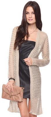 Forever 21 Open Knit Longline Cardigan