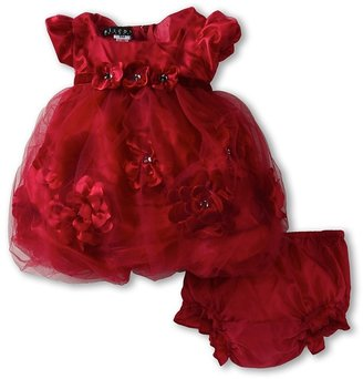 Biscotti Pocketful Of Posies Puff Sleeve Dress (Newborn) (Red) Girl's Dress