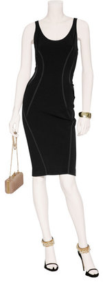 Donna Karan Black stretch dress with exposed back zipper