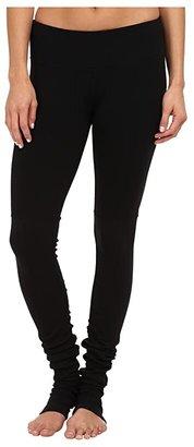 Alo Goddess Ribbed Legging (Black/Black) Women's Workout