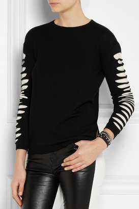 McQ by Alexander McQueen Slashed-sleeve knitted sweater