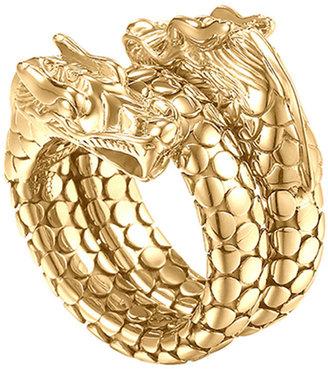 John Hardy Gold Naga Dragon Coil Ring