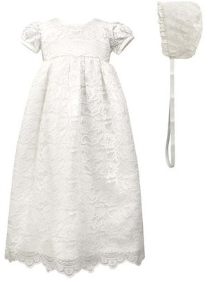 Infant C.i. Castro & Co. Scalloped Lace Christening Gown & Bonnet $64 thestylecure.com