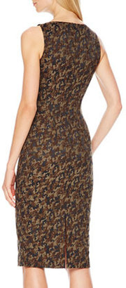 Michael Kors Camouflage-Jacquard Fitted Dress