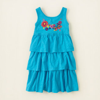Children's Place Embroidered tiered dress