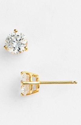 Women's Nordstrom Precious Metal Plated 2Ct Tw Cubic Zirconia Earrings $46 thestylecure.com