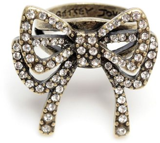 Betsey Johnson Jewelry Ring, Crystal Bow