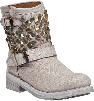 Ash Titanic Ankle Boot Gold/White Leather