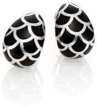 John Hardy Naga Enamel & Sterling Silver Buddha Belly Earrings