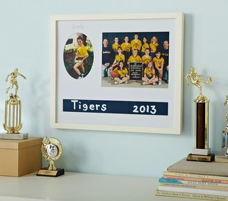 Pottery Barn Kids Simply White Sports Team Gallery Frame